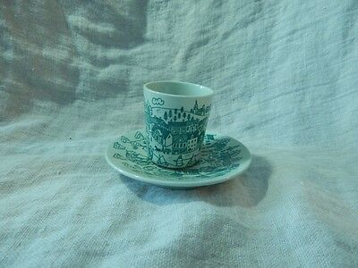Vintage Nymolle Art Faience Limited Edition 4006 Espresso Cup and Saucer Denmark