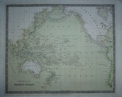 Teesdale's Chart of the Pacific Ocean c1831 engraved by John Dower