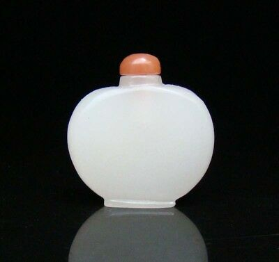 Chinese Natural HeTian Jade Handmade Carved Statue Exquisite Snuff Bottles 010