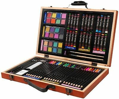 Darice 80-Piece Deluxe Art Set – Art Supplies for Drawing, Painting and More ...
