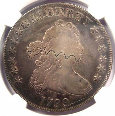 1799 Draped Bust Silver Dollar $1 Coin - Certified NGC VF Detail - Rare!