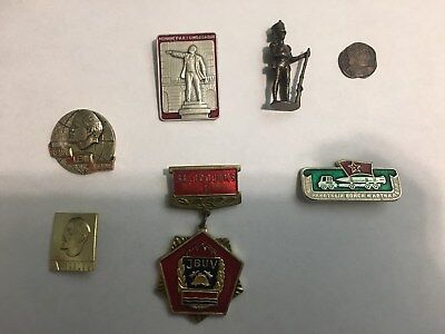 Lenin Russian Political Pins and other Russian Items