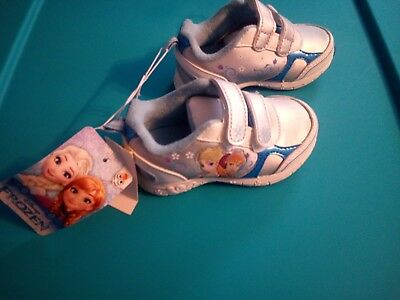 Disney Frozen Theme Toddler Girls Tennis Shoes Size 5 new NWT tagged.
