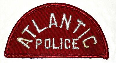 ATLANTIC IOWA IA Sheriff Police Patch VINTAGE OLD MESH ~ with some mounting mate