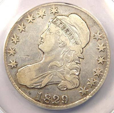 1829/7 Capped Bust Half Dollar 50C - Certified ANACS VF30 Detail - Rare Overdate