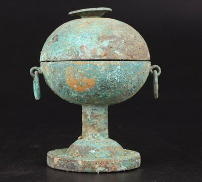 Chinese Old Bronze Casting Qing Dynasty Style Collection Of Wine Pot