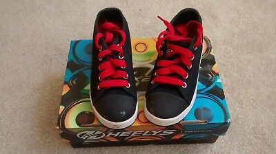 Heelys size 11 Eu30, black and red, nearly new condition