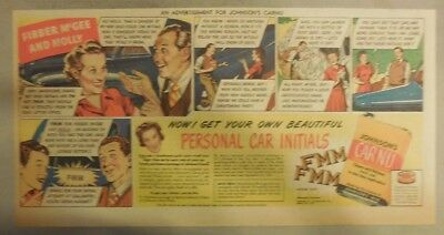 "Johnson's Auto Wax Ad ""Fibber McGee and Molly Radio Show!"" from 1930's - 40's"
