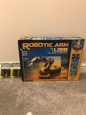 Robotic Arm Build Kit With PC Interface And Batteries