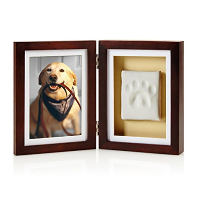 Pearhead Dog or Cat Paw Print Pet Keepsake Photo Frame With Clay Imprint Kit,
