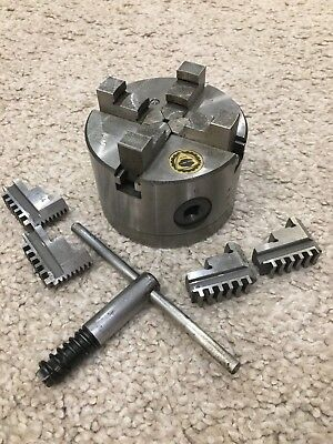 Bison 4 Jaw Scroll Chuck, 1 Piece Jaw Rear Mount 3704-100  2 sets jaws RRP £380