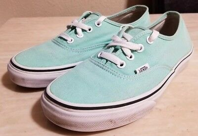 e42b7ed7f327d5 VANS AUTHENTIC MINT Green Black Outsole Men s 10 Skate Shoes New ...
