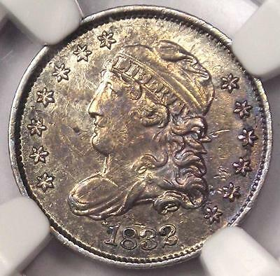 1832 Capped Bust Half Dime H10C LM-3 - NGC AU Details - Rare Certified Coin