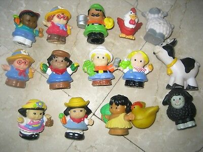 Lot Personnages Figurines Animaux Ferme Vintage Ancien Fisher Price Little Peopl