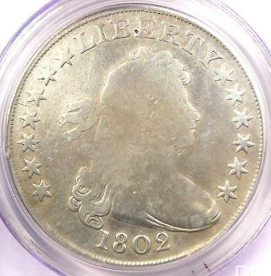 1802 Draped Bust Silver Dollar $1 Coin - Certified PCGS VG Detail - Rare!