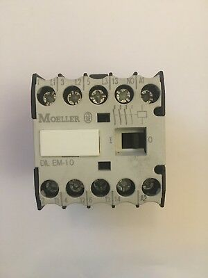 DIL EM-10 Moeller 4 Pole N/O Contactor 4 KW at 415 VAC 240VAC Coil 50/60 Hz