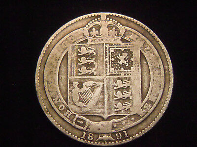 1891 Great Britain shilling free shipping