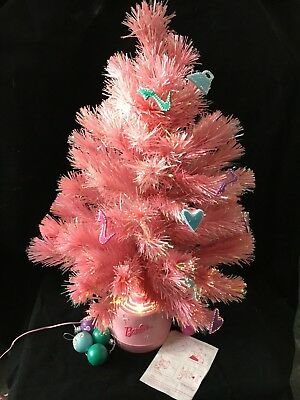 "Fiber Optic Pink Barbie Christmas Tree 27"" Color Changing Barbie Tree Works!"