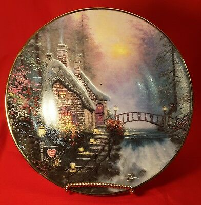 Thomas Kinkade Collectible Plate Falbrooke Cottage First Issue