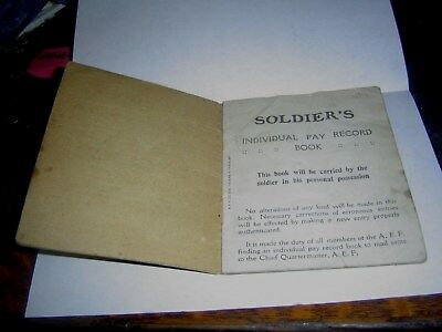 World War 1 WW1 Soldiers Pay Record Book 1918 Military Ephemera Decatur Illinois