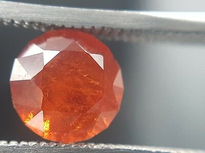 Natural round faceted Orangy red Spinel 2.43ct from Tanzania