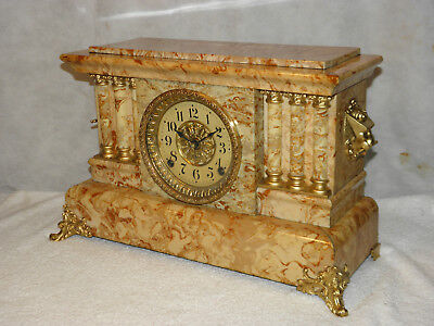 Antique Seth Thomas adamantine mantel clock.