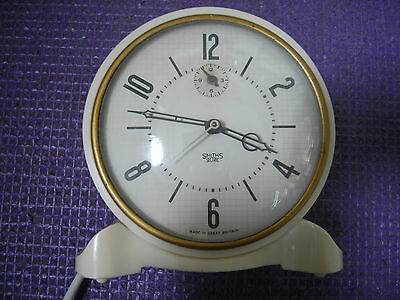 Art Deco Clock Rare 1930's Bakelite, Smiths Sectric 240V Working,Clean Condition