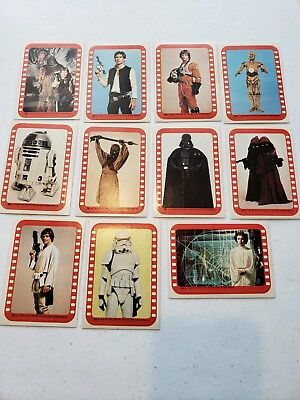 1977 Topps Star Wars Series 4 Complete Stickers Card Set (34-44)