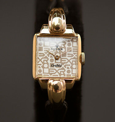 18K SOLID GOLD RARE! 50s Vintage ROLEX Ref 4211 LADY COCKTAIL WATCH SWISS