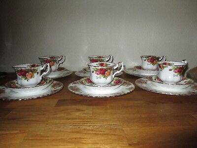 Royal Albert * Kaffee-Service 18-tlg * Old Country Roses Gold