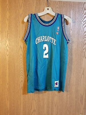 ... netherlands larry johnson charlotte hornets 2 champion teal jersey  youth xl adult s 18 365b1 d9623 8837f050e