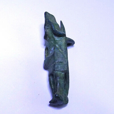 Roman Ancient Artifact Bronze Fibula With Warrior