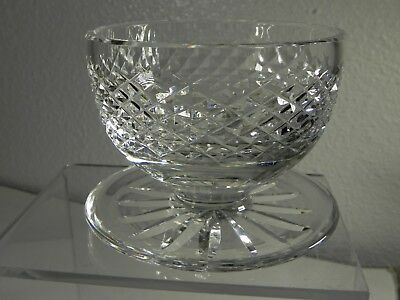 Waterford Ireland Vintage Hand Cut Crystal ALANA Footed Dessert Dish Signed EXC!