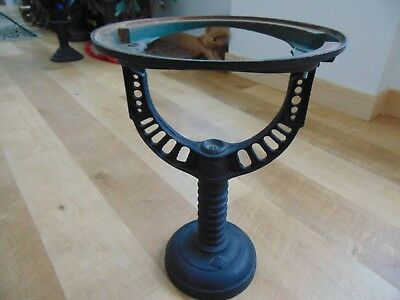 Antique cast iron water heater STAND BASE Industrial age metal plant table