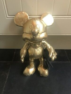 Mickey Mouse Gold Collection Plush , New With Tags
