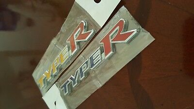 Type R emblem // brand new in package seal// must have// never install//