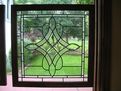 Beveled And Leaded Stained Glass Window (Pair Available)