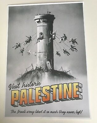 Banksy Palestine Poster **Special edition** from Walled Off Hotel