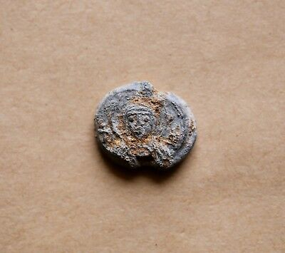 BYZANTINE LEAD SEAL/ BLEISIEGEL OF THEODOTUS  (7th cent.). Nice piece!