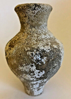 Ancient Oil Jug For Anointing Oils Rare Authentic Holy Land Artifact 'as Found'