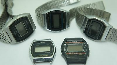 Vintage Casio Lot Marlin B-612W A-655 B-812 For Parts Or Repair Not Working