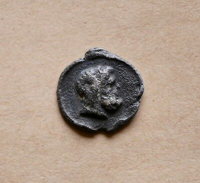ROMAN LEAD TESSERA WITH BUSTS OF A RICH COUPLE (2nd/3rd cent.). VERY NICE PIECE!