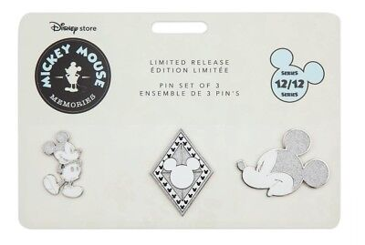 Mickey Mouse Memories Pin set December month Disney store Limited edition