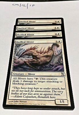 Magic the Gathering MTG Quilled Sliver x4 Uncommon Cards NM/M Time Spiral