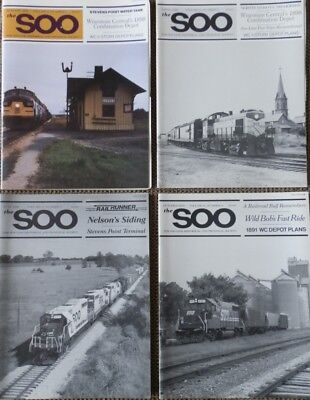 The Soo Line Historical and Technical Society Magazines (Year: 1989) Set of 4