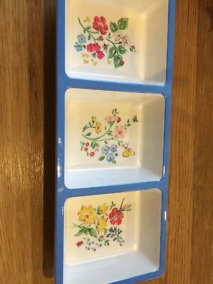CATH KIDSTON Floral 3 PART serving dish tray - melamine - In excellent condition