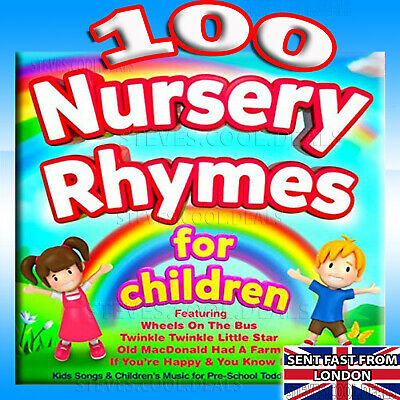 UK 100 Kids Nursery Rhymes Childrens Music for Preschool Toddlers & Babies 2 CDs