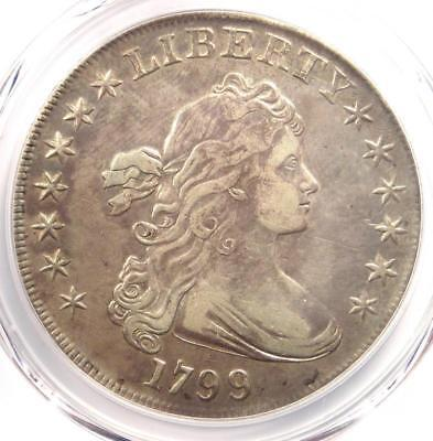 1799 Draped Bust Silver Dollar $1 - Certified PCGS XF Details (EF) - Rare Coin!