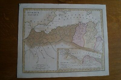 Antique Map of North Africa and part of Spain by Robert Wilkinson from 1798
