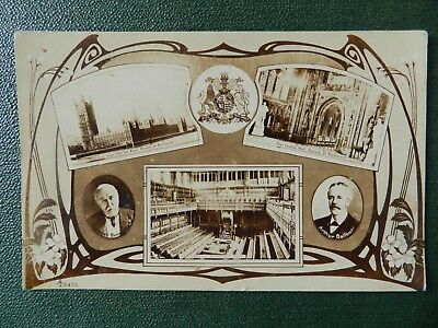 Old Postcard - Prime Ministers Balfour & Bannerman / Houses Of Parliament